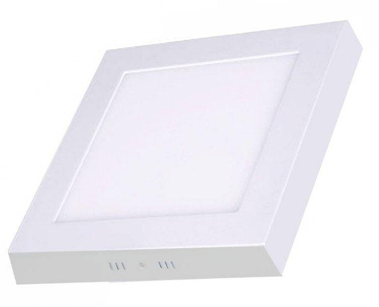 Plafon de sobrepor LED 32W quadrado branco frio