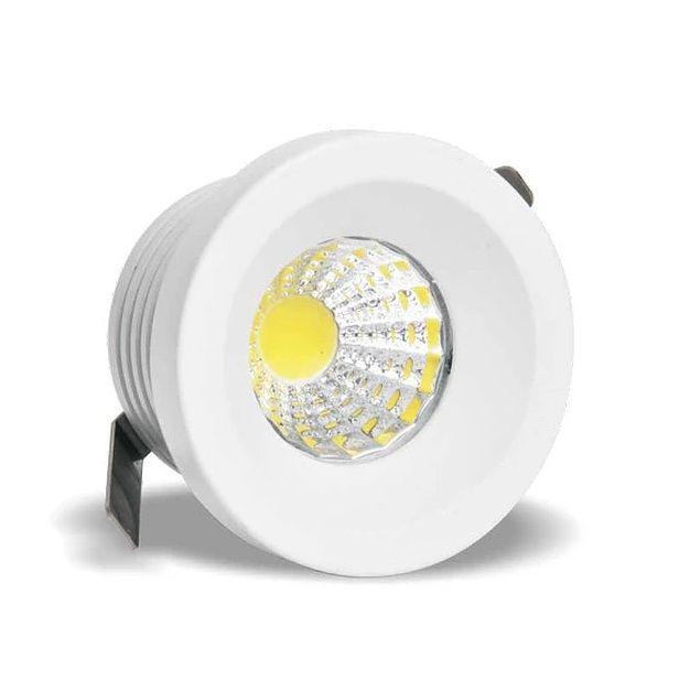 Spot de embutir LED 3W Mini redondo branco quente bivolt
