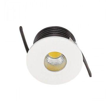 Spot Mini LED de embutir 3W redondo branco quente bivolt