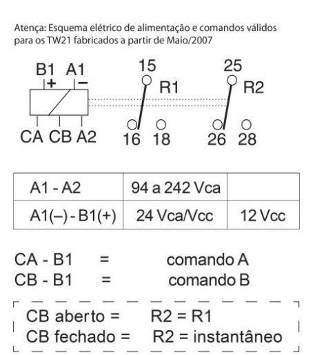 TEMPORIZADOR ELETRÔNICO MULTIFUNÇÃO TW21 BIVOLT