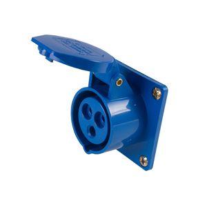 Tomada de embutir 3P 16A 3046 Azul 220V