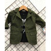 a2a456dcfd Blazer sarja verde militar - DmissBaby