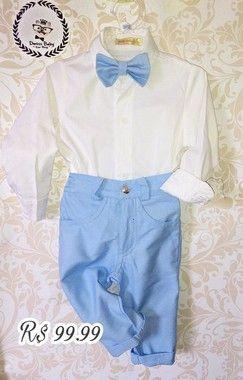 e7b60c92dd calça em Sarja Azul bebe - DmissBaby