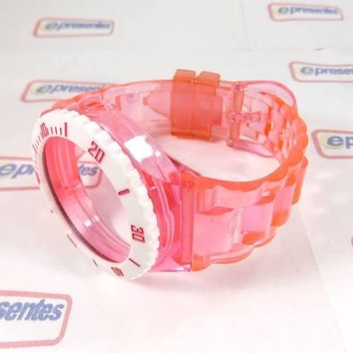 Pulseira Champion Rosa Claro Transparente - 100% Original  - Alexandre Venturini