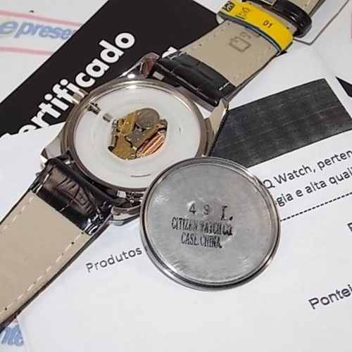 Relógio Masculino Pulseira Couro Q&Q Q638J305Y Maq. Citizen  - E-Presentes
