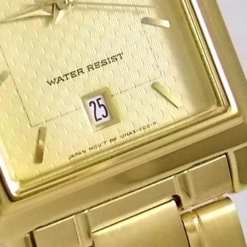 Relógio Orient Dourado Fundo Amarelo 100% Original Quadrado  - Alexandre Venturini