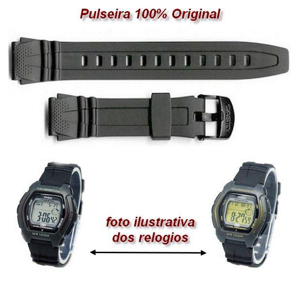 10162532  Pulseira Casio HDD-600 RESINA PRETA  - 100% autentica  - Alexandre Venturini