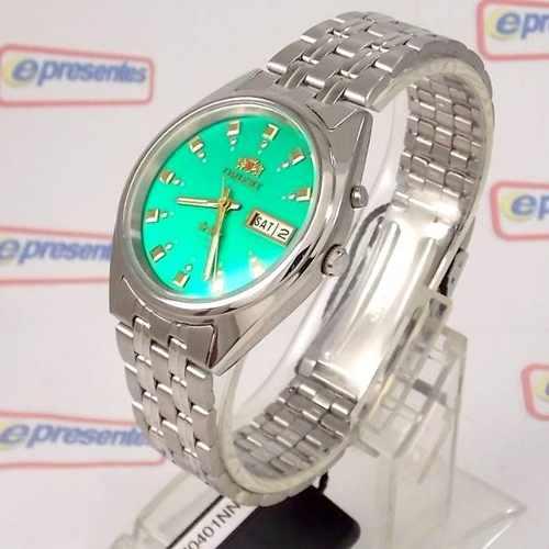 Relógio Orient Automático Verde FEM0401NN9 100% Autentico  - E-Presentes