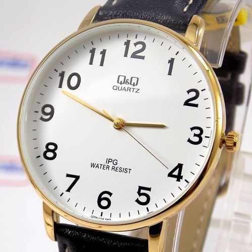 Relógio Masculino Pulseira Couro Q&q QZ00J104Y - Maq Citizen  - E-Presentes