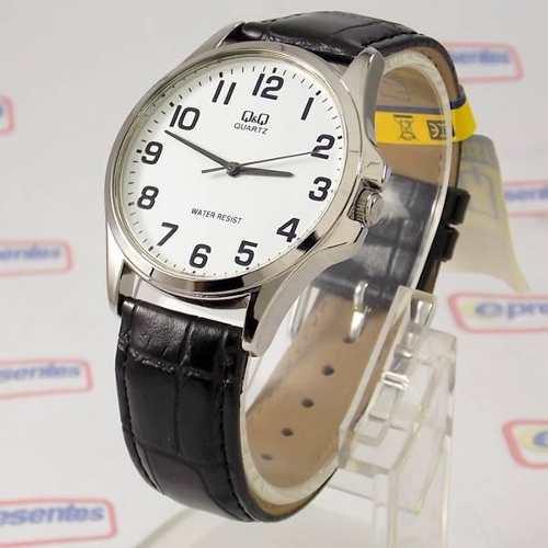956ed273233 Relógio Masculino Pulseira Couro Q q QA06J304Y (maq Citizen) - E-Presentes