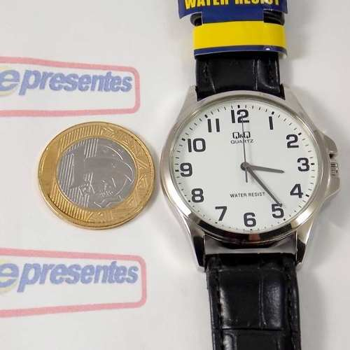 Relógio Masculino Pulseira Couro Q&q QA06J304Y (maq Citizen)  - E-Presentes