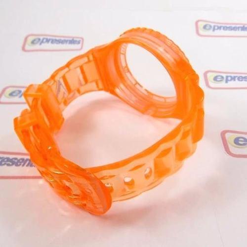 Pulseira Champion Laranja Translucida Pr30919j 100% Original  - E-Presentes