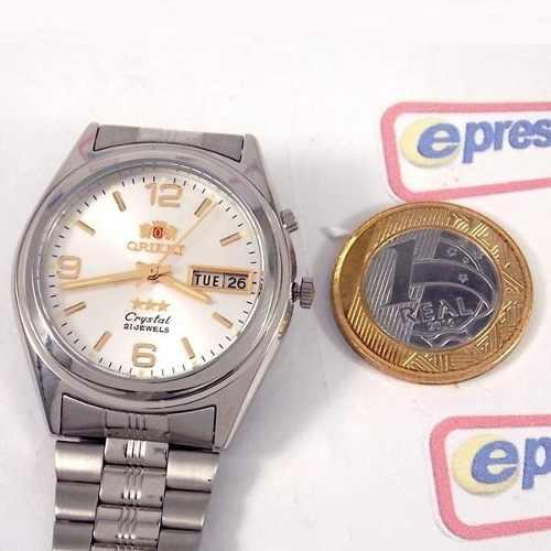 Relógio Orient Automático Prateado Masculino 36mm FEM6Q00FW9  - E-Presentes