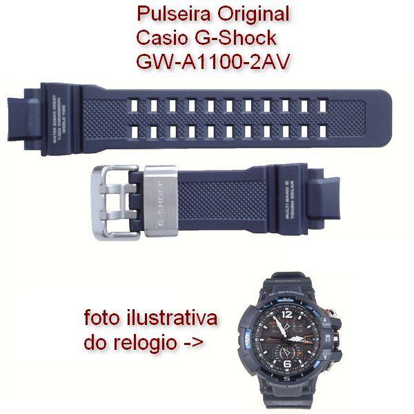 Pulseira Casio G-shock Resina Azul - GW-A1100-2AV - 100% autentica  - Alexandre Venturini