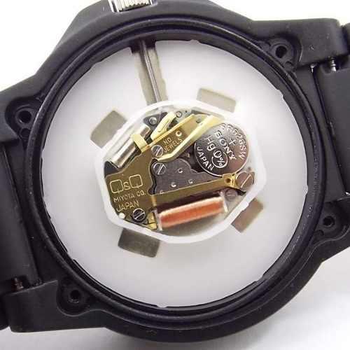 Relógio Esportivo Analógico Q&Q Wr100 Metros Módulo Citizen VQ84J010Y  - E-Presentes