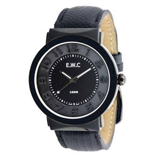 Relógio Unissex Ewc Grande EFT11376-P Preto Pulseira Couro  - Alexandre Venturini