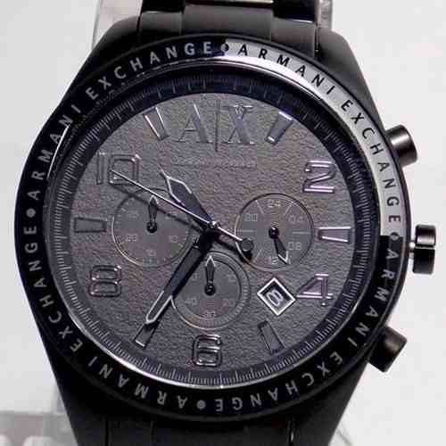 Relogio Armani Exchange Analógico Original UAX1255Z Black Ip  - E-Presentes