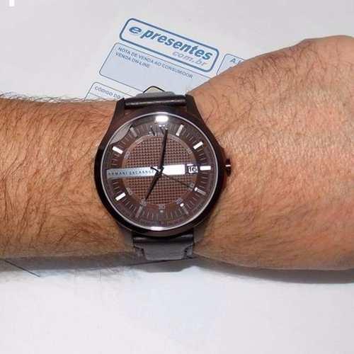 Relogio Armani Exchange 100% Original AX2123Z Pulseira Couro  - Alexandre Venturini