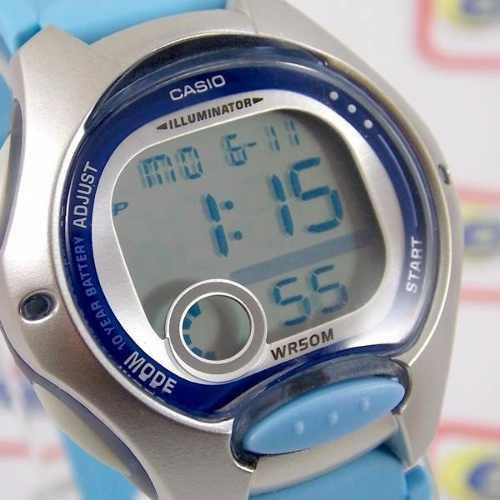 LW-200-2BV Relogio Casio Digital Feminino Pequeno Azul Claro  - E-Presentes