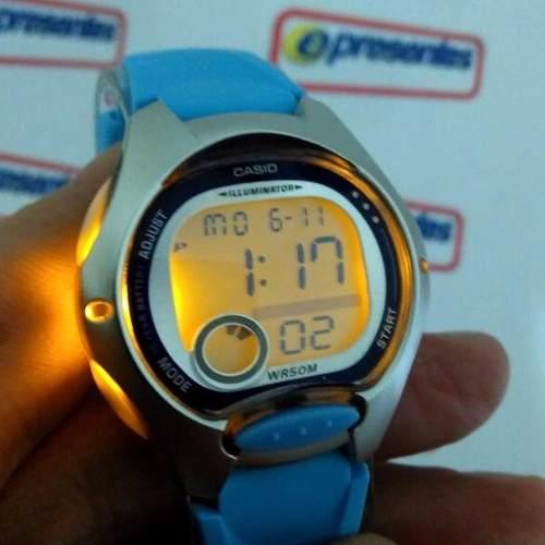 LW-200-2BV Relogio Casio Digital Feminino Pequeno Azul Claro  - Alexandre Venturini
