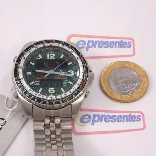 Relógio Citizen Wingman Verde 1ano Garantia Original JQ8008  - Alexandre Venturini