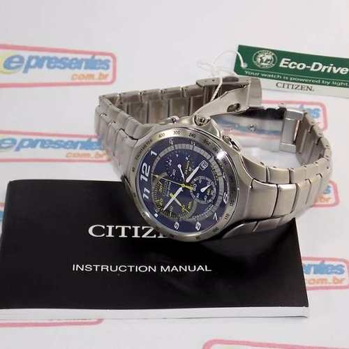 AT1091-54M Relogio Masculino Citizen Eco-drive Cronógrafo  - E-Presentes