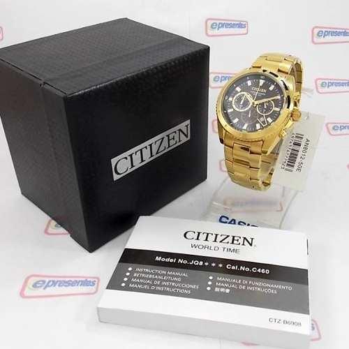 Relogio Masculino Citizen Cronógrafo Dourado AN8012-50e / TZ30062U  - E-Presentes