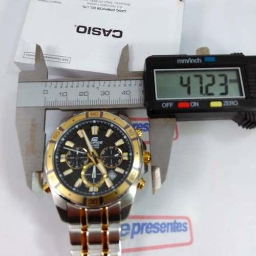 Relógio Casio Edifice EFR-534SG Com Iluminação 100% Original  - E-Presentes
