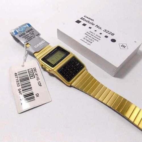 DBC-611G Relógio Casio Databank Retrô Vintage Gold Original  - Alexandre Venturini