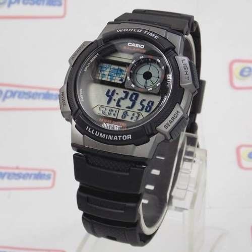 669a0af065c AE-1000W 1BV Relógio Casio World Time 5alarmes Wr 100 Luz - E-Presentes