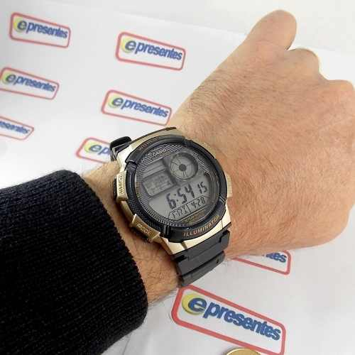 5a2fbd9e286 AE-1000W 1A3 Relógio Casio Digital 5alarmes Wr100 Original - E-Presentes