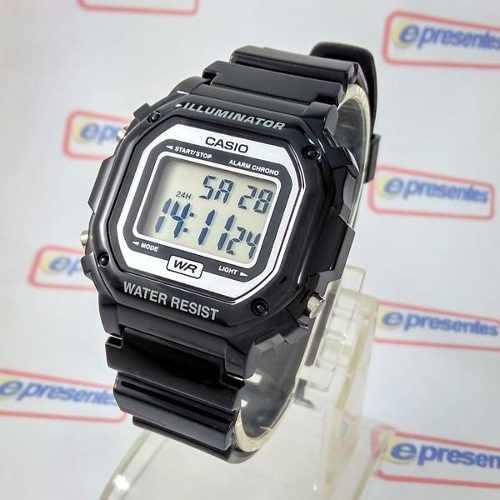Relógio Casio Digital F-108WHC-1AV Alarme Crono WR Luz  - E-Presentes