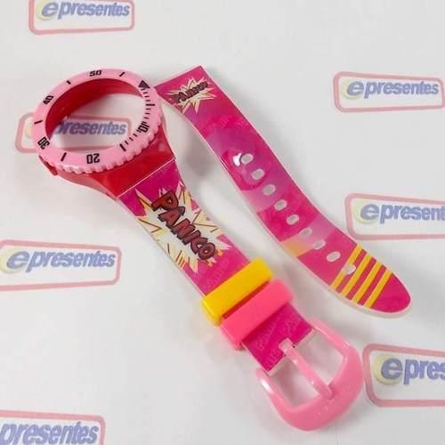 Pulseira Champion Avulsa Estampada Panico PR30519N Original  - E-Presentes