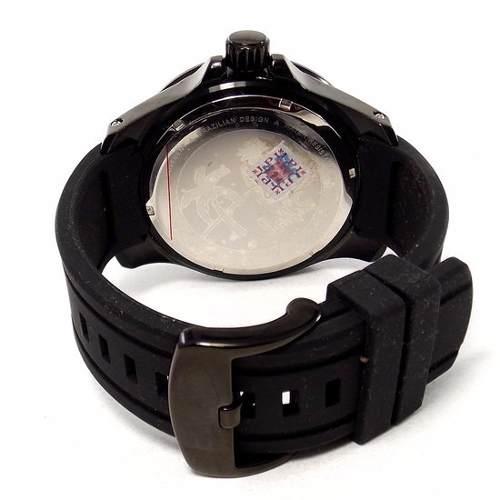 Relogio Masculino Grande 61mm E.W.C EMT11321-B Black Ip  - E-Presentes
