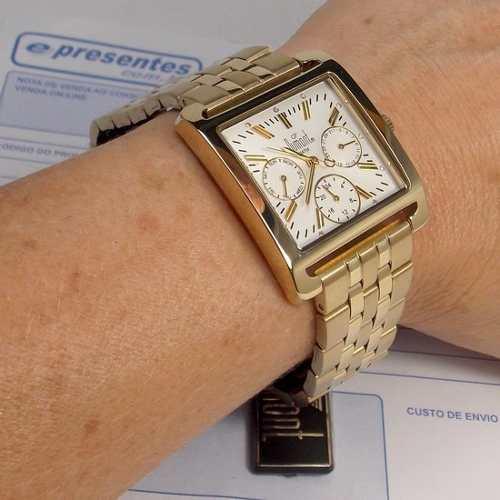Relógio Feminino SZ85201B Dumont Dourado  - Alexandre Venturini