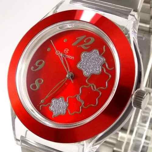 Relógio Feminino Champion Mostrador Vermelho CP20086R  - Alexandre Venturini