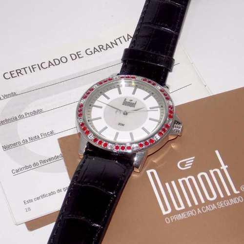 Relógio Feminino Dumont Couro Madrepérola Cristais SX35196V  - Alexandre Venturini