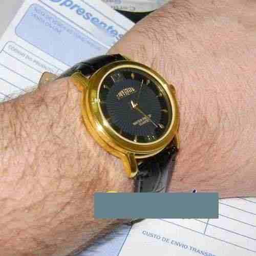 Relógio Masculino Pulseira Couro Maquina Miyota 43mm Wr Novo  - E-Presentes