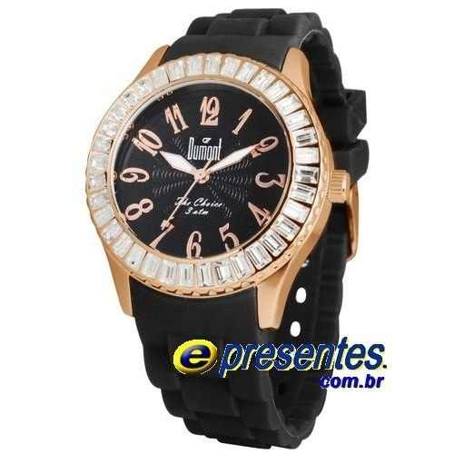 SW49011P Relógio Feminino Dumont Pulseira Silicone  - E-Presentes