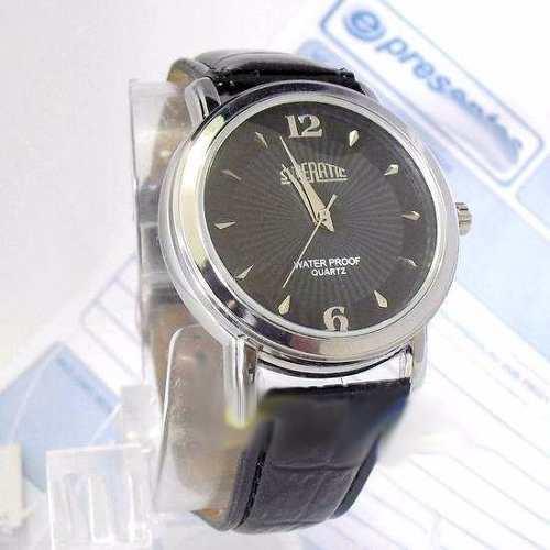 6e07d472225 Relógio Masculino Pulseira Couro Envernizada Preto SP8491-2 - E-Presentes
