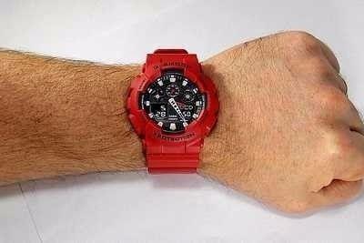 Ga-100b-4adr Relógio Casio Gshock Original Vermelho, 200m...  - E-Presentes