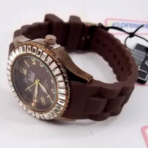 Relógio Feminino Dumont Pulseira Silicone Marrom SW43008R  - E-Presentes