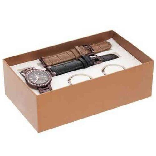 Relógio Dumont Vip Feminino 3 Pulseiras 3 Catracas SK60027R  - E-Presentes