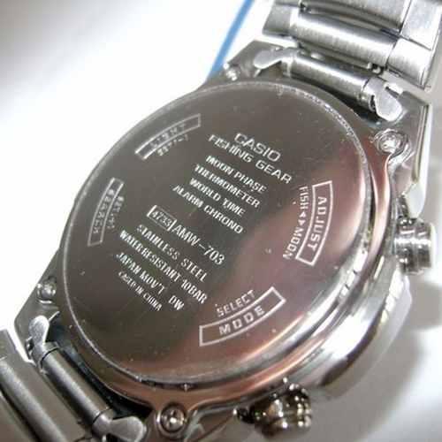 AMW-703D-1AV Relógio Casio OutGear Funções De Pesca  - Alexandre Venturini