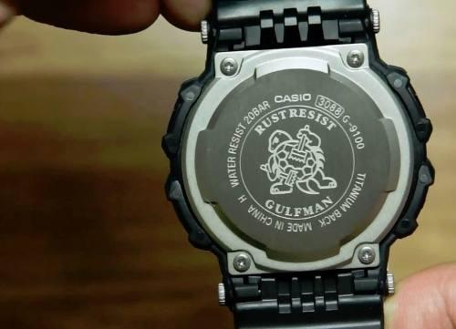 G-9100-1DR Relógio Casio Ghock Gulfman Graficos Maré Lua  - E-Presentes