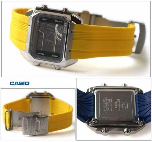 Relogio Casio Edifice Digital EFD-1000 9VDF Resina Amarelo  - E-Presentes