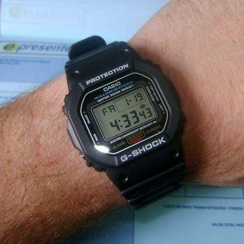 Relógio Casio G-shock Dw-5600e Série Prata 100% Original  - E-Presentes
