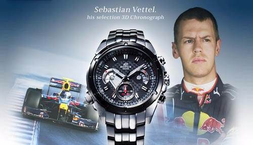 EF-535SP-1AV Relógio Casio Edifice Sebastian Vettel (2009)  - E-Presentes