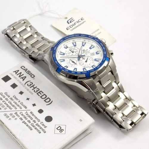 Relógio Casio Edifice EF-539D-7A2V Branco 100% Original  - E-Presentes