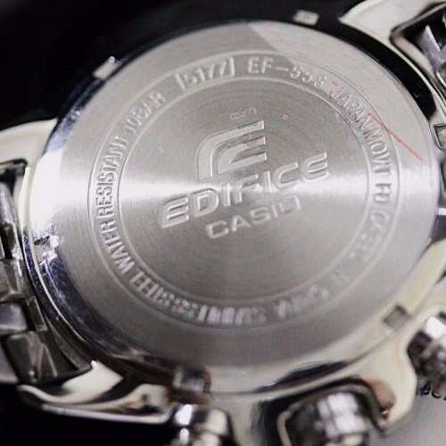 EF-558D Relógio Casio Edifice Cronograph 100m Branco Rose  - Alexandre Venturini